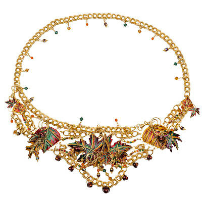 """Lunch At The Ritz """"Autumn in New York"""" Jewelled Belt RARE From Esme's Vault"""