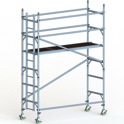 GDA500-SW Mobile Scaffold Tower 2m (4m Working Height)