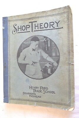 1941 WWII SHOP THEORY Henry Ford Trade School Dearborn Michigan Book Manual RARE