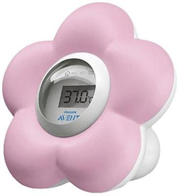 Philips Avent Digital Bath & Room Temperature Thermometer For Baby Toddler Pink