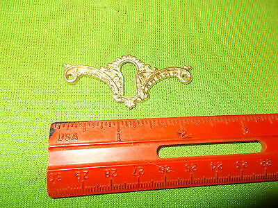BEAUTIFUL  VINTAGE FANCY BRASS  DRESSER DRAWER DESK  Escutcheon Key Hole Cover