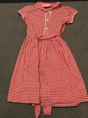 62b7ac6a7f71 Girls School Summer Dress Red Gingham George At Asda Age 13-14 New With Tags