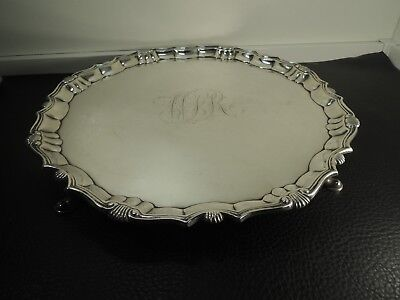 Antique George II Sterling Silver salver by Robert Abercromby London 1746s-923gm
