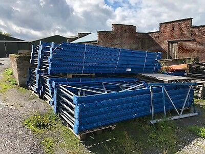 HI-LO Premier Pallet racking uprights - 3.7m high Industrial shelving -USED