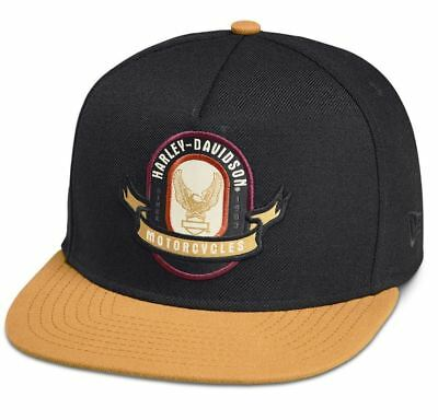 Brand New and Genuine Harley Davidson Men's Eagle Crest Patch Cap