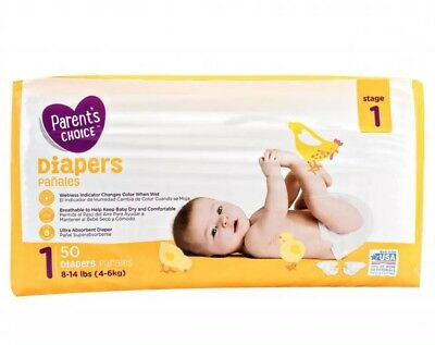 Parents Choice - BABY Diapers COUNT 50 - SIZE 1 UNISEX