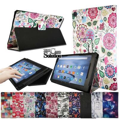 Smart Leather Stand Cover Case For Amazon Fire HD 10 with Alexa 2015/2017 tablet