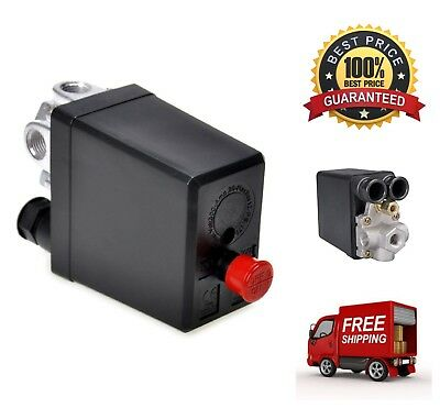 Air Compressor Pressure Switch Control Valve 90-120 PSi 240V On/Off Switch Knob