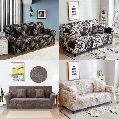 Stretch Sofa Protector Covers Printed Couch Elastic Sofa Slipcover 1 2 3 4Seater