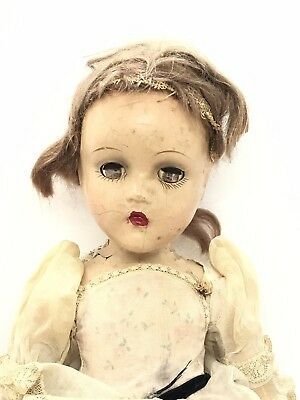 VINTAGE COMPOSITION WENDY ANN FAIRY PRINCESS DOLL BY MADAME ALEXANDER 1940s 17""