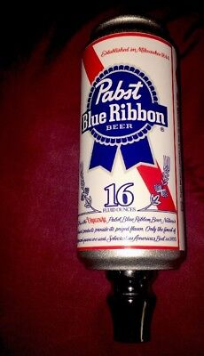 *NEW  PABST BLUE RIBBON  PBR BEER  CAN Shaped  TAP  HANDLE  RARE!!  COLLECTIBLE!