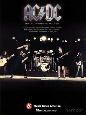 AC/DC Easy Guitar with Riffs and Solos Learn How to Play TAB Sheet Music Book