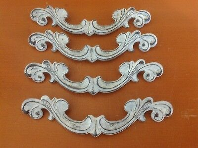 X033 VTG French Provincial Handles White Shabby Chic 4 Available