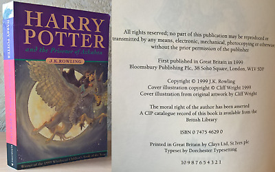 J. K. Rowling - Harry Potter and the Prisoner Of Azkaban – 1999 [First Edition]
