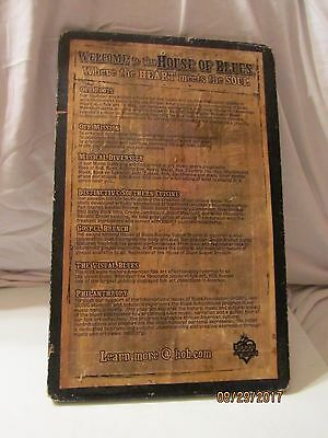 Vintage Welcome to House of Blues Wooden Menu Cover M-2