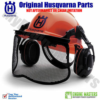 Husqvarna 577764601 Pro Forest Helmet System with Visor/Hearing Protection