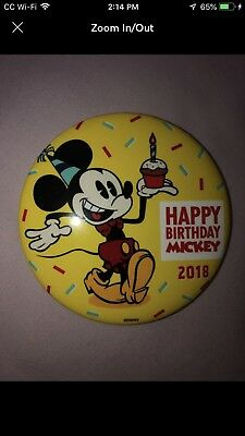Happy Birthday Mickey Mouse 90th Anniversary Disney Store LE Button Pin