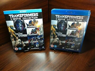 Transformers 5 Movie Collection (Blu-ray Boxset) Slipcover-NEW-Free Shipping