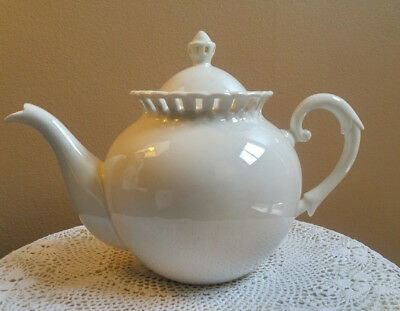 Cream Pierced Teapot Gracie Bone China By Coastline Imports 6 Cups