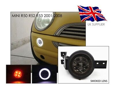 2001-2008 Mini Cooper S R50 R52 R53 Full Led Front Halo Rim Lights - Smoked - Uk