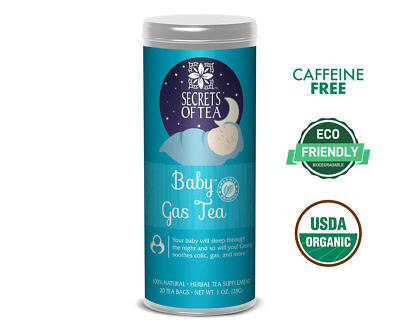 Baby Gas Tea | Soothes Colic, Gas, Indigestion, Completely Safe for Better Sleep