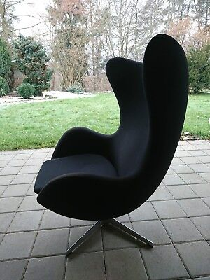 Fritz Hansen Egg Chair Design By Arne Jacobsen Sessel Stuhl Leder