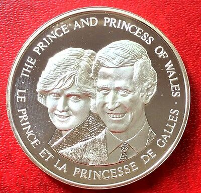 1983 Canada Proof 0.6 Silver Prince Charles & Princess Diana Of Wales Medal
