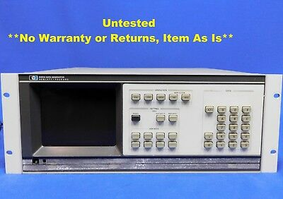 Agilent HP Keysight 8180A Data Generator 1Hz to 50MHz