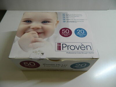 iProven FK-127 Ovulation Test Strips and Pregnancy Test Kit - 50 LH and 20 HCG