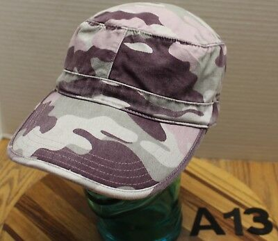 Womens Old Navy Camo Cadet/military Style Hat Size L/xl Very Good Condition A13
