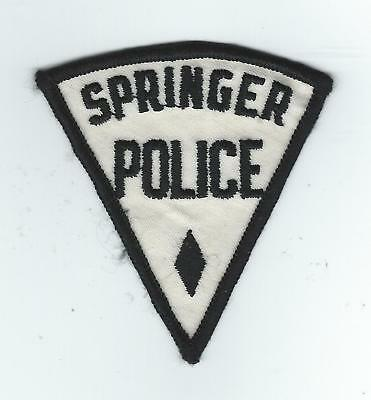 VINTAGE SPRINGER, NEW MEXICO POLICE (CHEESE CLOTH BACK) patch
