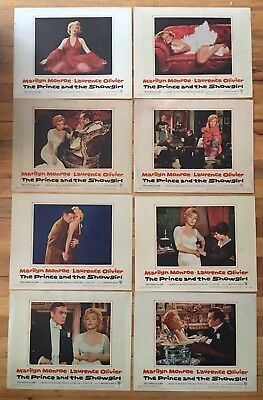 Rare Complete Set Of Orig Prince And The Showgirl Lobby Cards Marilyn Monroe