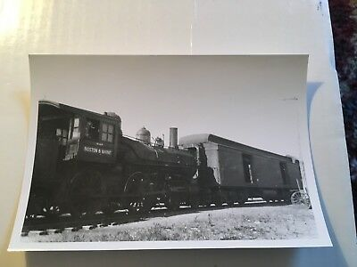 Vintage Film Negative Boston & Maine Railroad loco 931 & passenger train