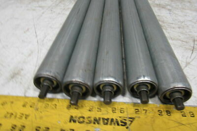 "32-3/4"" BF 1-3/8"" OD Gravity Conveyor Roller 5/8"" Hex Axle Lot Of 5"