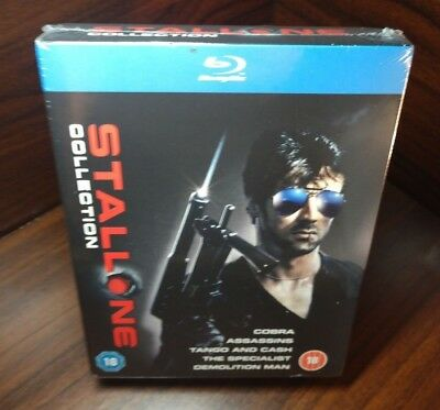 Sylvester Stallone Collection (Blu-ray,5 Movies)Slipcover-NEW-Free S&H w/Trackin