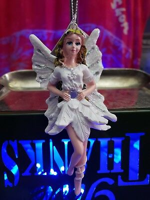 Angel With Glitter Wings Christmas Tree Ornament~New!
