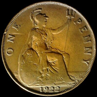 Great Britain 1922, 1 Penny KM# 810