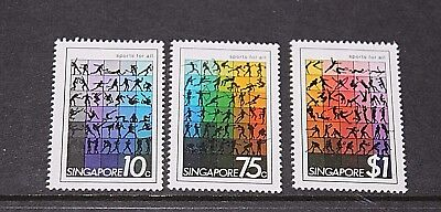 Singapore 1981 Sports For All Set Of 3   Fine Mint  M//n/h