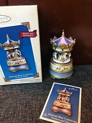 Hallmark Ornament Jewelry Box Carousel Treasures & Dreams- #2-2003 Great Gift
