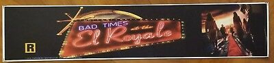 Bad Times at the El Royale 2018 - Movie Theater Mylar Free Shipping