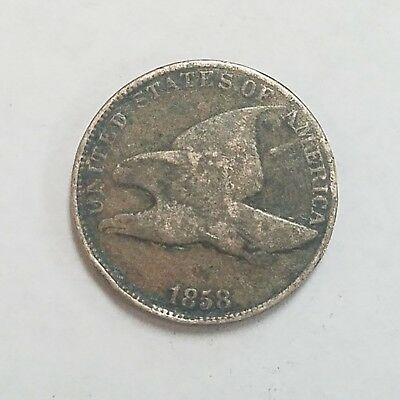 1858 U.S. Flying Eagle Small Cent Coin (30N)