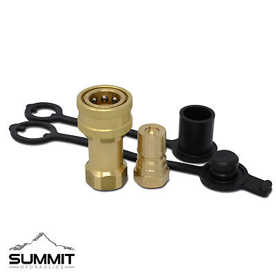 3/8″ NPT ISO 7241-B Brass Quick Disconnect Hydraulic