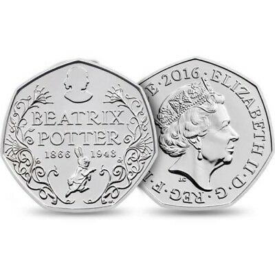 Beatrix Potter 150th Anniversary 50p, Brand New, Free Postage and Uncirculated.