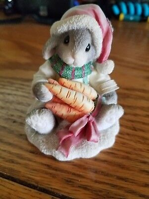 Vintage  1996 Xmas My Blushing Bunny Count Your Blessings