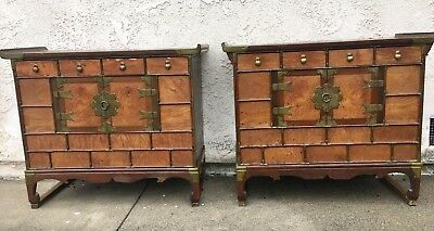 Interesting Pair Of Chinese Wood Cabinets