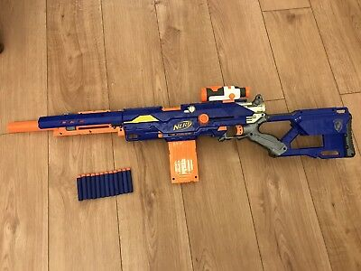Nerf Longstrike CS-6 Sniper Rifle Gun - With Ammo & Magazine - Working!