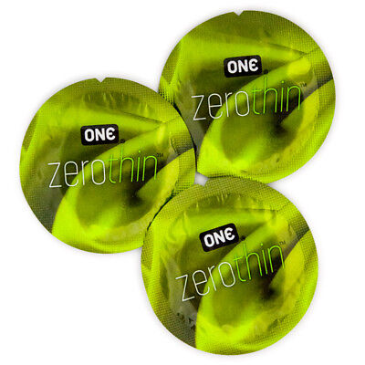 One zerothin latex silicone lubricated 100 pieces pack sale