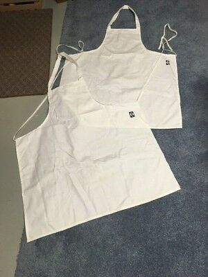 lot of 2 Solid White PENN Bistro Apron USA Made NEW Chef Restaurant