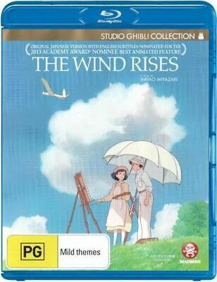 NEW The Wind Rises (Studio Ghibli Collection) Blu Ray Free Shipping