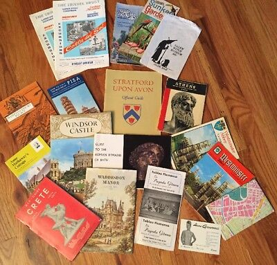 Lot of Vintage European London England Italy Greece Tavel Guides Souvenirs